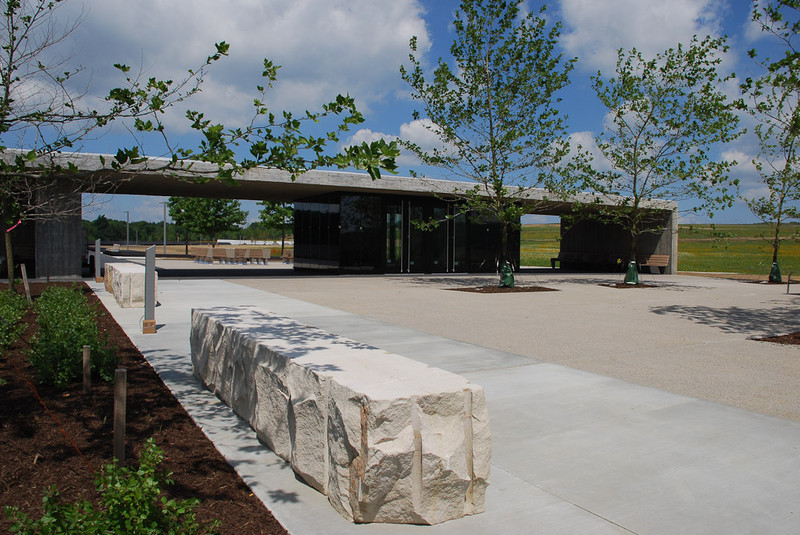 July 2011: Arrival Forecourt and Gateway to the Memorial Plaza.  (Image Credit:  Paul Murdoch Architects.)