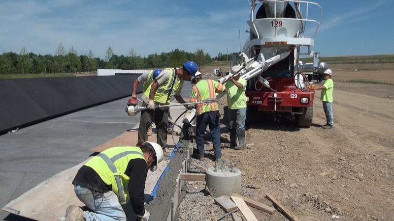 June 2011: Working on the Memorial Plaza Walkway (Image credit:  Richard Snodgrass)