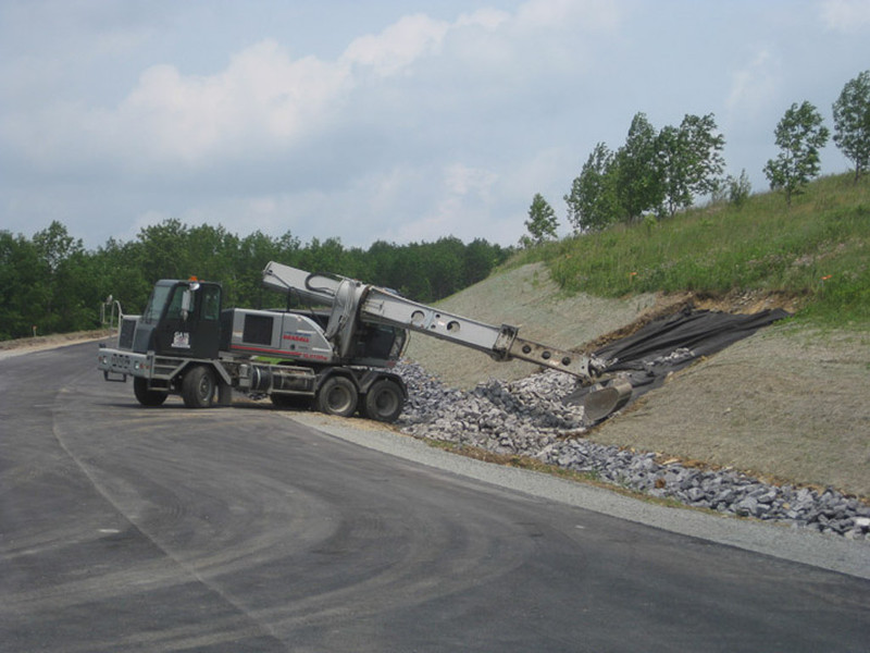 June 2011: Drainage work along the entrance road.