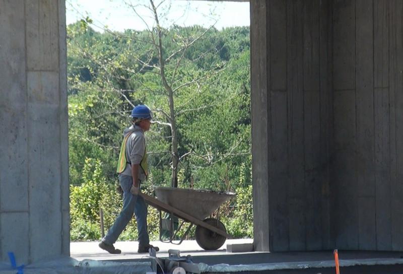June 2011: Visitor Shelter and Gateway under construction (Image Credit:  Richard Snodgrass)