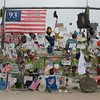 Temporary memorials at Shanksville, PA.