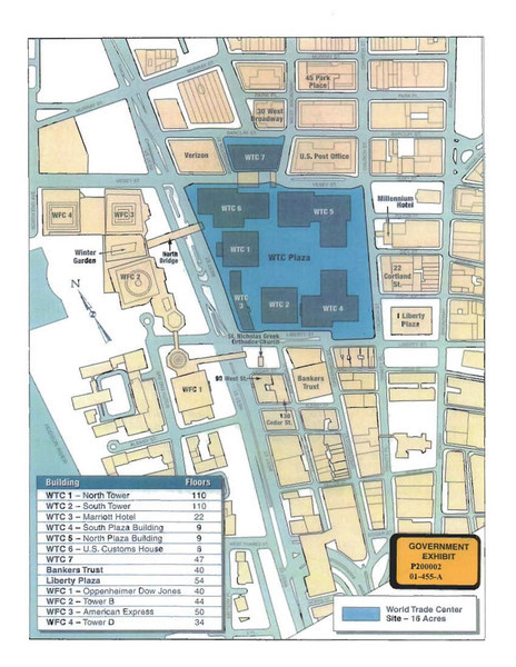 Map of the World Trade Center area.