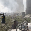 2001:09:12 13:23:24 - West Side Hwy covered by fallen tower[©2001 Hiro. All rights reserved. Used with permission.]