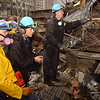 New York, NY, September 20, 2001 -- NYPD continue to search for survivors amongst the wreckage of the World Trade Center.<br /> <br /> Photo by Andrea Booher/ FEMA News Photo