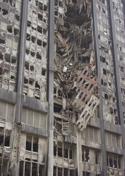 New York, NY, September 20, 2001 -- This building was damaged by the explosions caused by terrorist attacks near the World Trade Center site.<br /> <br /> Photo by Mike Rieger/ FEMA News Photo