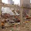 New York, NY, September 20, 2001 -- Recovery continues at the World Trade Center under a steady rainfall.<br /> <br /> Photo by Andrea Booher/ FEMA News Photo
