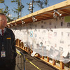 New York, NY, September 2001 -- A FEMA employee views the wall of people still missing from the World Trade Center attacks.<br /> <br /> Photo by Andrea Booher/ FEMA News Photo<br /> <br /> [exact date unknown]
