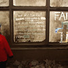New York, NY, September 20, 2001 -- Writing on the windows of buildings near the World Trade Center.<br /> <br /> Photo by Andrea Booher/ FEMA News Photo