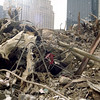 New York, NY, March 15, 2002 -- Even after months of clean up at the site of the World Trade Center there is still lots of clean up to be done.<br /> <br /> Photo by Larry Lerner/ FEMA News Photo
