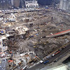 New York, NY, March 15, 2002 -- An aerial view of Ground Zero shows the enormous progress made on clean-up of the site six months after the World Trade Center attack. To date, more than 1.4 million tons of debris have been removed from the area.<br /> <br /> Photo by Larry Lerner/ FEMA News Photo
