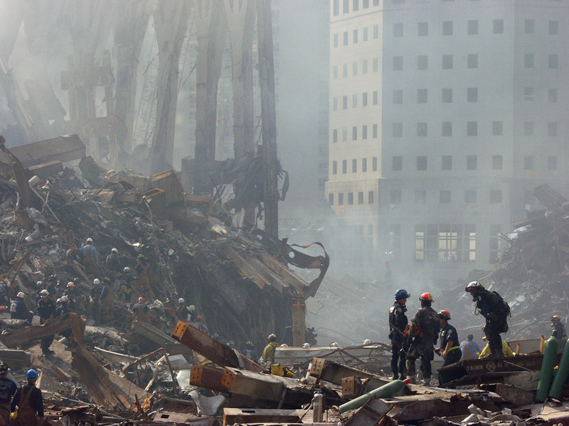New York, NY, September 22, 2001 -- FEMA Urban Search and Rescue workers at the World Trade Center continue to search for victims of the terrorist attack.<br /> <br /> Photo by Michael Rieger/ FEMA News Photo