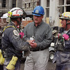 New York, NY, September 24, 2001 -- FEMA Director Joe M. Allbaugh meets with Florida Task Force-2 Urban Search and Rescue team members to thank them for their role in the rescue operations underway at the World Trade Center.<br /> <br /> Photo by Michael Rieger/ FEMA News Photo