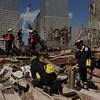 New York, NY, September 29, 2001 -- California Task Force-3 work on cutting steel as part of the recovery operations underway at the World Trade Center.<br /> <br /> Photo by Michael Rieger/ FEMA News Photo