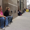 New York, NY, September 29, 2001 -- Students Melinda Sklar (left) and Sara Flynn of Pace University wait to go up and collect their belongings <br /> <br /> Photo by Michael Rieger/ FEMA News Photo