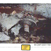 Photograph of airplane parts in the Pentagon after Flight 77 crashed into the building.