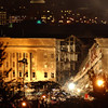 010911-N-3783H-174<br /> Arlington, Virginia (Sept. 11, 2001) -– Smoke and flames rose over the Pentagon late into the night, following a suspected terrorist crash of a commercial airliner into the southwest corner of the Pentagon.  Part of the building has collapsed meanwhile firefighters continue to battle the flames and look for survivors.  An exact number of casualties are unknown. The building was evacuated, as were the federal buildings in the Capitol area, including the White House.  U.S. Navy Photo by Photographer's Mate 2nd Class Bob Houlihan (Released)