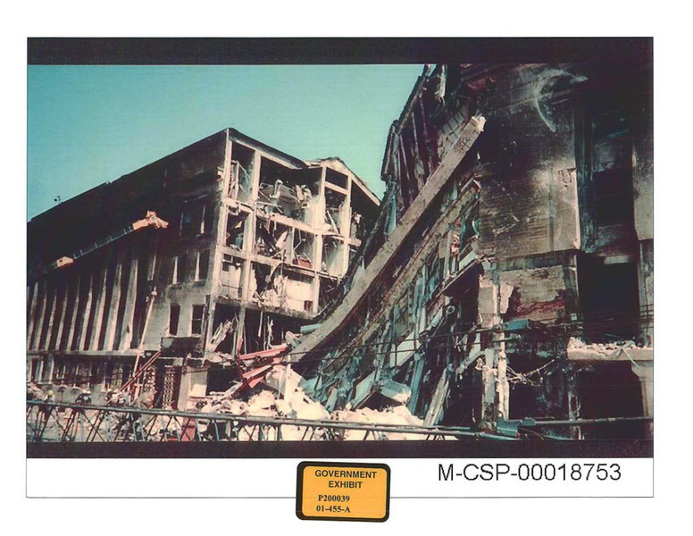 Photograph of the Pentagon after Flight 77 crashed into the building.