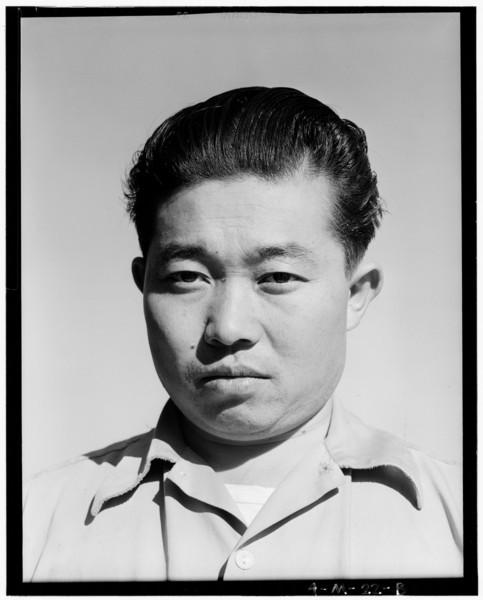 2001-03-28: Benji Iguchi, tractor driver (portrait) Manzanar Relocation Center, California