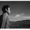 2000-07-13: Tom Kobayashi, landscape, south fields, Manzanar Relocation Center