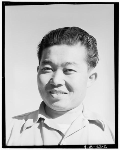 2000-03-22: Benji Iguchi, tractor driver (portrait) Manzanar Relocation Center, California