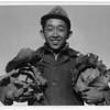 2000-07-13: Richard Kobayashi, farmer with cabbages, Manzanar Relocation Center, California