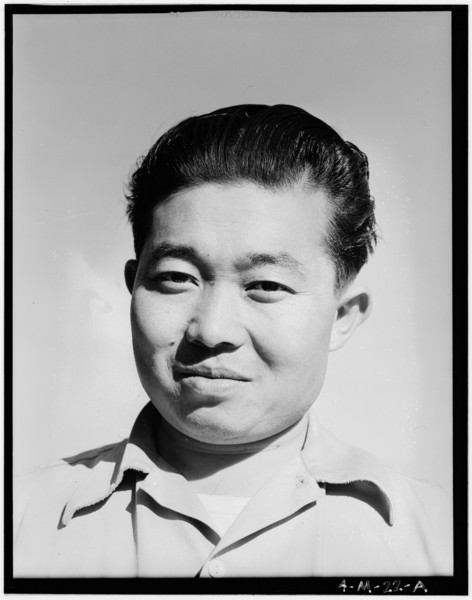 2001-04-27: Benji Iguchi, tractor driver (portrait) Manzanar Relocation Center, California