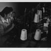 2000-07-14: Sumiko Shigematsu at power machine, Manzanar Relocation Center, California