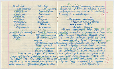 1987-09-02...1987-10-16, 6th grade Oxana's copybook on Russian