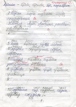 Olya's handwritings