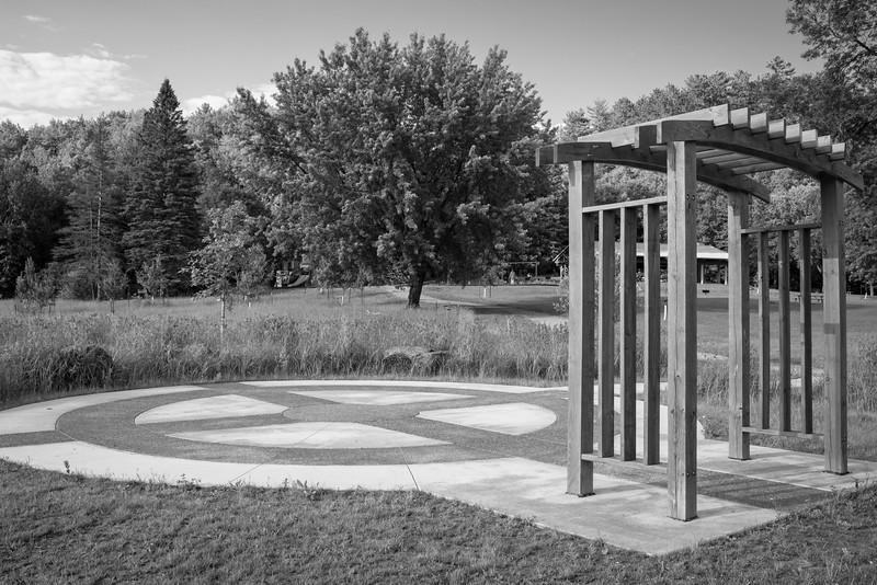The recently rebuilt Chambers Grove Park at the edge of town now features a medicine wheel.