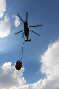 Fire-fighting helicopters had become an everyday occurrence