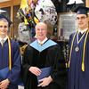 At Malden Catholic are Zachary Zahner, salutatorian and Peter Melendez, valedictorian with Brother Tom Puccio.<br /> Pilot photo/ Patrick E. O'Connor