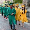 Cathedral High grads arrive for graduation on Saturday, May 31. Pilot photo/ Patrick E. O'Connor
