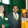 At Cathedral High are Artur Janowiec, valedictorian and Brittany Goncalves, salutatorian with Dr. Oscar Santos.<br /> Pilot photo/ Patrick E. O'Connor