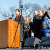 Cardinal O'Malley gathers with other pro-life leaders at the rally on the National Mall in Washington, D.C. before the start of the March for Life Jan. 22, 2014.  (Pilot photo by Gregory L. Tracy)