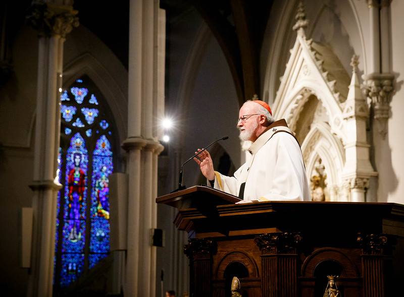 Mass for Public Safety Personnel and their Families celebrated by Cardinal Seán P. O'Malley at the Cathedral of the Holy Cross Oct. 9, 2016.<br /> Pilot photo/ Gregory L. Tracy