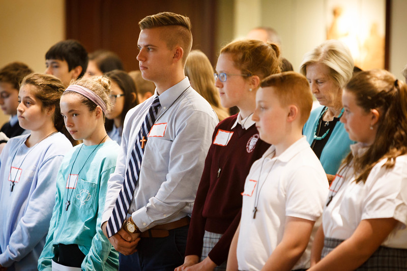 Mission Education Day sponsored by the Missionary Childhood Association in the Archdiocese of Boston's Pastoral Center, Oct. 11, 2017.<br /> Pilot photo/ Gregory L. Tracy
