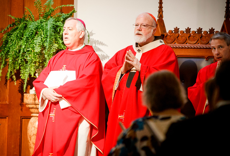 The 2017 Red Mass sponsored by the Lawyers' Guild of the Archdiocese of Boston, celebrated by the Cardinal Seán P. O'Malley at Our Lady of Good Voyage Chapel Oct. 22, 2017.<br /> Pilot photo/ Gregory L. Tracy