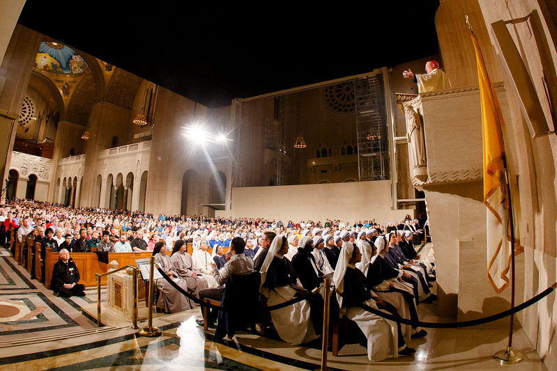 New York Cardinal Timothy Dolan delivers his homily at the Vigil Mass for Life, held Jan. 26 at the Basilica of the National Shrine of the Immaculate Conception in Washington, D.C. <br /> Pilot photo/ Gregory L. Tracy