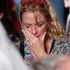 A woman cries during the Vigil Mass for Life, held Jan. 26 at the Basilica of the National Shrine of the Immaculate Conception in Washington, D.C. <br /> Pilot photo/ Gregory L. Tracy