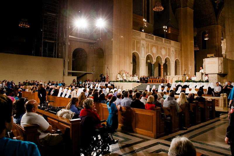Washington Cardinal Donald Wuerl welcomes participants to the Vigil Mass for Life, held Jan. 26 at the Basilica of the National Shrine of the Immaculate Conception in Washington, D.C. <br /> Pilot photo/ Gregory L. Tracy