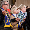 Worshipers join hands in prayer at the Vigil Mass for Life, held Jan. 26 at the Basilica of the National Shrine of the Immaculate Conception in Washington, D.C. <br /> Pilot photo/ Gregory L. Tracy
