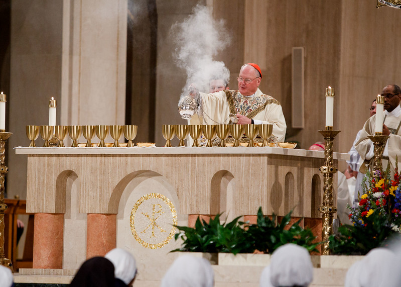 New York Cardinal Timothy Dolan uses incense during the Vigil Mass for Life, held Jan. 26 at the Basilica of the National Shrine of the Immaculate Conception in Washington, D.C. <br /> Pilot photo/ Gregory L. Tracy