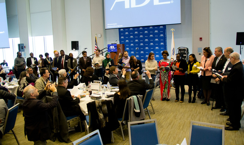 """ADL New England's 11th annual """"A Nation of Immigrants"""" Community Seder, March 4, 2018 and UMass Boston.<br /> Pilot photo/ Mark Labbe"""