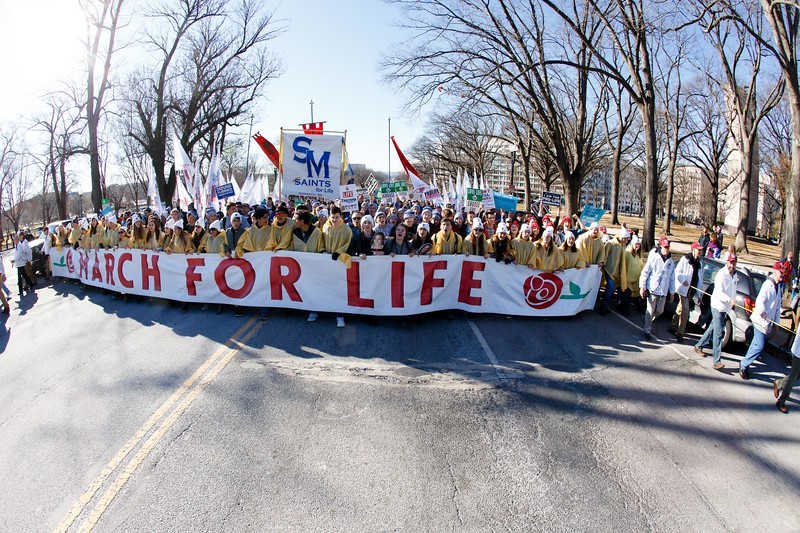 The 45th annual March for Life in Washington, D.C., Jan. 19, 2018.<br /> Pilot photo/ Gregory L. Tracy