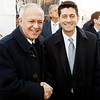 Supreme Knight Carl Anderson greets House Speaker Paul Ryan before Ryan addressed the crowd at the March for Life.<br /> Pilot photo/ Gregory L. Tracy