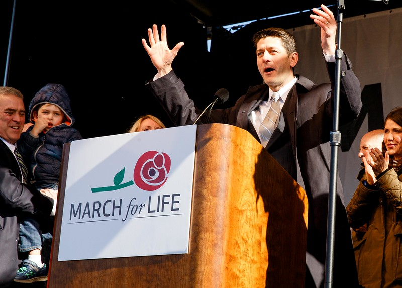 House Speaker Paul Ryan addresses the March for Life, Jan. 19, 2017.<br /> Pilot photo/ Gregory L. Tracy