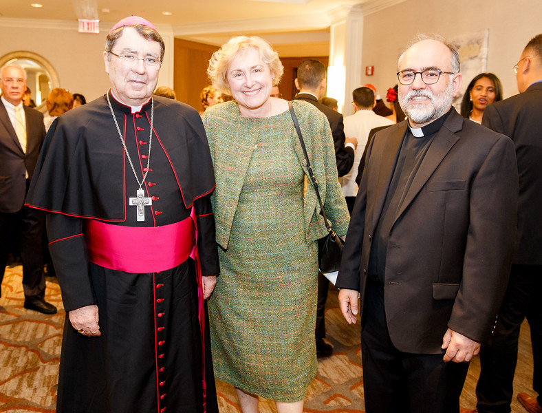 Redemptoris Mater Archdiocesan Missionary Seminary of Boston's annual Gala Dinner held at June 3, 2018. During the evening, the seminary honored Apostolic Nuncio to the United States Archbishop Christophe Pierre and Dr. Lucy Bayer-Zwirello, Chief of Maternal Fetal Medicine at St. Elizabeth's Medical Center.<br /> Pilot photo/ Gregory L. Tracy