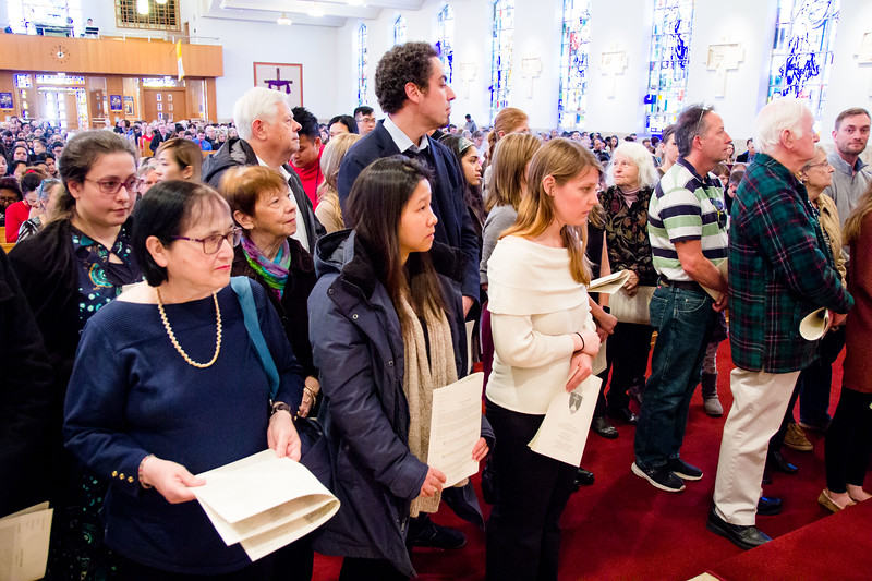 First celebration of the Rite of the Election and Call to Continuing Conversion Immaculate Conception Church in Malden, Feb. 18, 2018.<br /> Pilot photo/ Mark Labbe