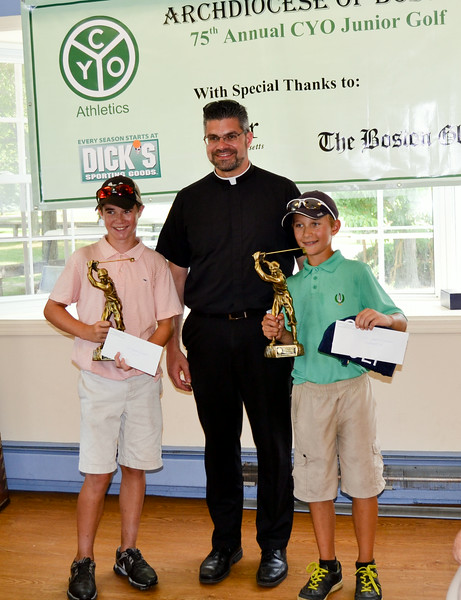 Watch out, golfing world, cadets like Tommy Johnson (left) and Brian Glennon will be chasing records for years to come.  Brian was Medalist and defeated Tommy in the finals, 7 up.<br /> (Pilot photo/ Courtesy Rick Mattulina)